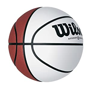 Wilson Official Size Autograph Basketball, Brown