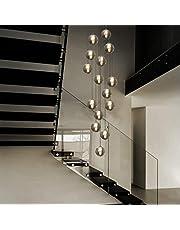 Lampa wisząca CBJKTX stół jadalny z regulacją wysokości ze szkła w kolorze szarym i bursztynowym