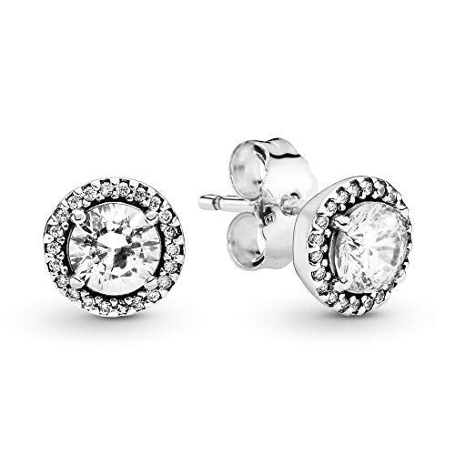 Pandora Jewelry - Round Sparkle Stud Earrings in Sterling Silver with Clear Cubic Zirconia