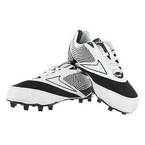 Reebok NFL U-Form 4Speed Mid M4 Men Round Toe Synthetic Black Cleats (10, White/Black)
