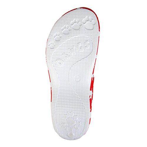 Dawgs Kvinna Arch Stöd Z Sandaler Kanada (röd / Vit)