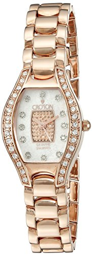 Croton Diamond Ladies Watch (CROTON Women's CN207534RGPV Analog Display Quartz Rose Gold Watch)