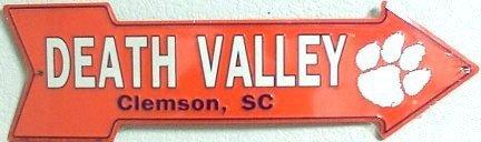 NCAA Clemson University South Carolina Tigers Arrow Aluminum Metal Sign 6 X 20