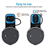 FidgetFidget Wall Mount Hanger Holder Cradle+Cable for Amazon Echo Dot 3nd Bluetooth SpeakerBlack