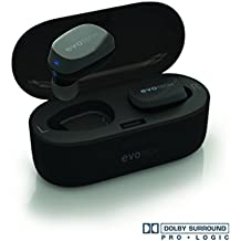 True Wireless Earbuds EVOTech Opus Headphones, Dolby Surround Pro Logic 3D Sound, Noise Isolating, Bluetooth V4.2 Headset, Easy Pairing Earphones With Charging Box And Built-in Mic UPGRADED FOR 2018