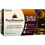 Pine Mountain 100% Natural Classic Firelog, 3-Hour Burn Time, 6 Logs