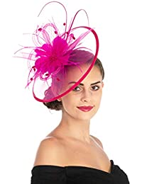 affd9b2e66c Women Girl Fascinators Hair Clip Hairpin Hat Feather Cocktail Wedding Tea  Party Hat