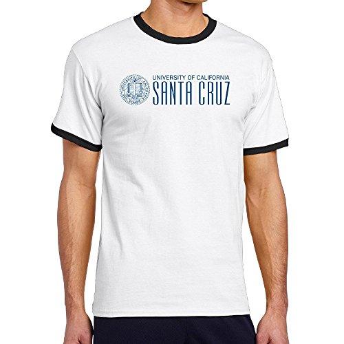 Custom Men's Two-toned Classic University Of California Santa Cruz Tshirt Black Size - Michael For Men Kors Review