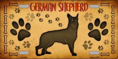 German Shepherd Novelty Metal License Plate LP-10446