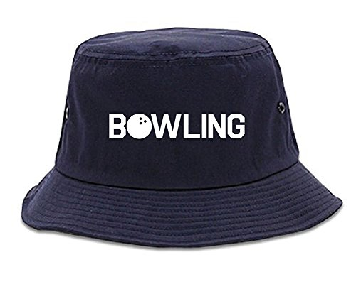 Kings Of NY Bowling Bucket Hat Navy Blue