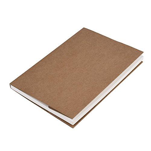 Mudder Skizzenblock Skizzenbuch Zeichenblock Papier für Künstler, 5.0 * 7.5 Zoll, 62 Sheets (Kraftpapierabdeckung)