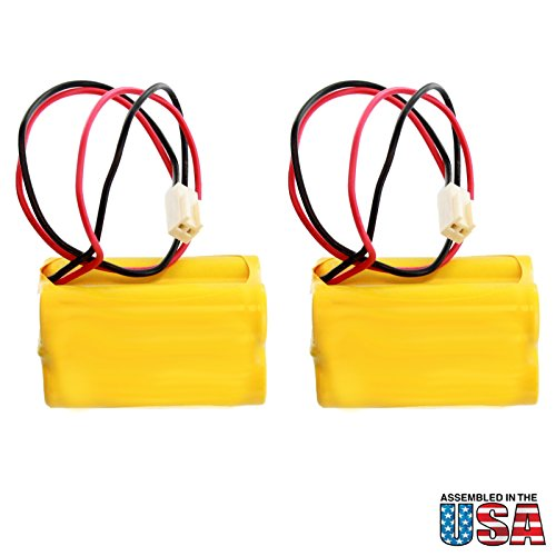 - (2-Pack) Exell Emergency Lighting Battery Fits & Replaces Interstate ANIC0811 Lithonia A15032-1 Osi Batteries OSA004 Powersonic A150321 Astralite 20-0001 Day-Brite A15032-1 CXL6VBXT Day-Brite CXXL3GW