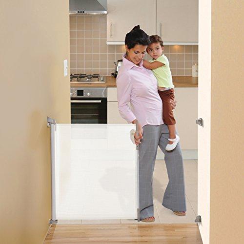 Dream Baby Retractable Gate Standard White 140 Cm 55 In Amazon Co