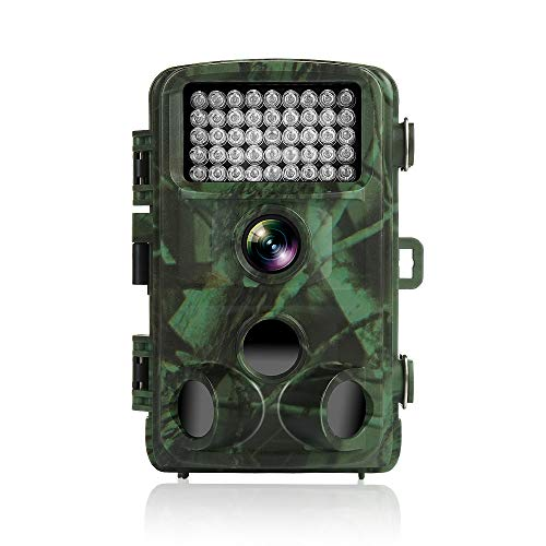 TEC.BEAN Trail Camera 12MP 1080P HD 2.4 Inch LCD Screen Full HD Game Hunting Camera with 120 Degree Wide Angle Plus 42PCS 940NM IR LEDs Night Vision Up to 75 Feet IP66 Waterproof Protected