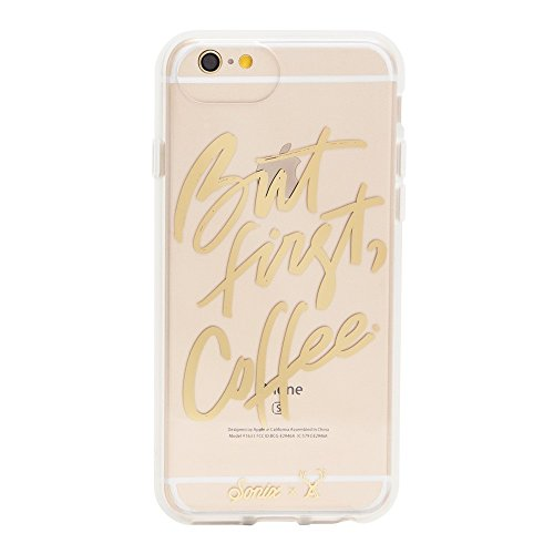 iPhone 8/iPhone 7/iPhone 6,Sonix BUT FIRST, COFFEE Clear Coat Cell Phone Case-Drop Test Certified - Retail Packaging - Sonix Clear Case Series for Apple (4.7
