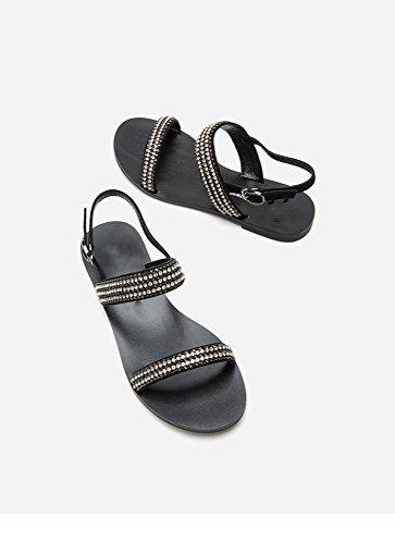 de DHG de de Mujer Zapatillas Punta Verano Dulces Sandalias Planas de Moda Sandalias Sandalias S de Color Ocasionales OwY0rXO