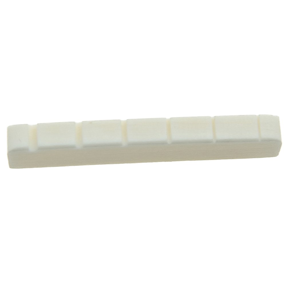 Dovewill Set of 2 Electric Guitar Parts Bone Nut Slotted White for Les Paul LP Guitar Accs