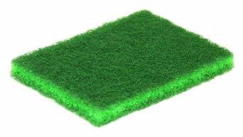 "Glit 20959 TK Polyester Blend 9650-B Green Medium Duty Scouring Pad, Synthetic Blend Resin, 5"" Length x 3-1/2"" Width (Case of 60)"