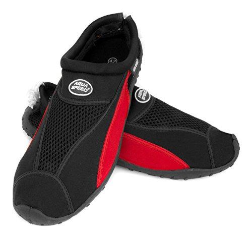 ... Zapatos de agua AQUA-SPEED de surf zapatos zapatillas Negro Rojo ... cc9b82b5399