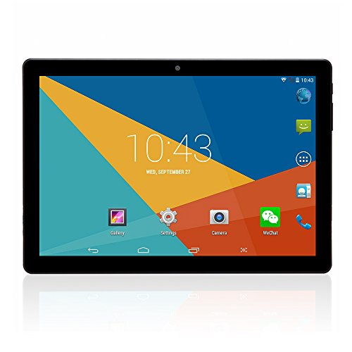 10.1 inch Tablet Android 6 Wifi Unlocked 3G Phone Tablet PC 1GB+16GB MTK 6580 Quad-Core IPS Screen 1280x800 Dual camera Cell phone Support 2G 3G Wifi Dual SIM Card Bluetooth (Black) (Tablet 10 3g)