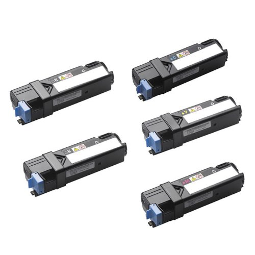 HI-VISION HI-YIELDS ® Compatible Toner Cartridge Replacement for Dell 2150 (2 Black, 1 Cyan, 1 Yellow, 1 Magenta, 5-Pack), Office Central