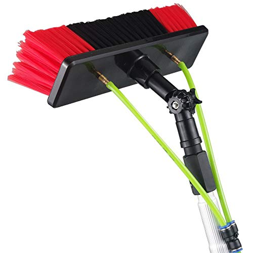 (Techtongda Window Cleaning Poles Water Fed Brush 8m Poles Easy to Install)