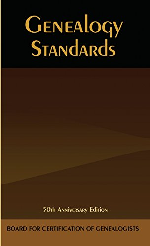 Top 2 recommendation genealogy standards 50th anniversary
