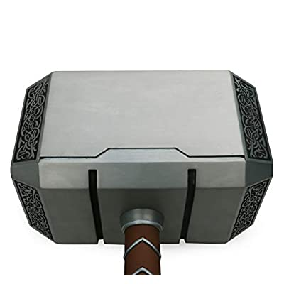 Gmasking 2020 Norse Mythology Metal Thor Mjolnir Cosplay Hammer 1:1 Real Props: Home & Kitchen