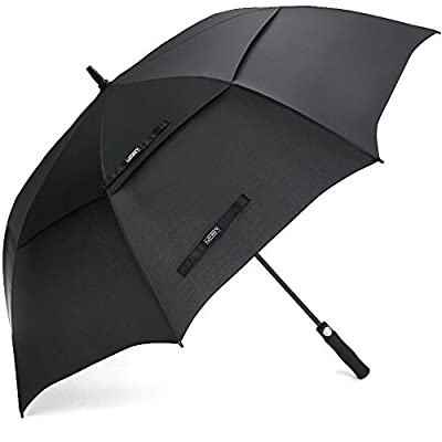 G4Free 62 Inch Automatic Open Golf Umbrella Extra Large Oversize Double Canopy Vented Windproof Waterproof Stick Umbrellas