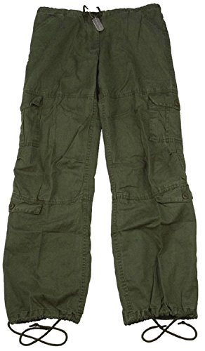 (Bellawjace Clothing Women's Od Green Vintage Paratrooper BDU Fatigue Pants)