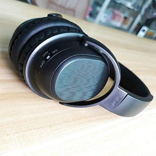 RENKUNDE 快適で通気性のためのコンピュータのユニバーサルワイヤレスゲームヘッドセット、簡単な調節可能なヘッドバンドのイヤーパッド ゲーミングヘッドセット (Color : Black2)