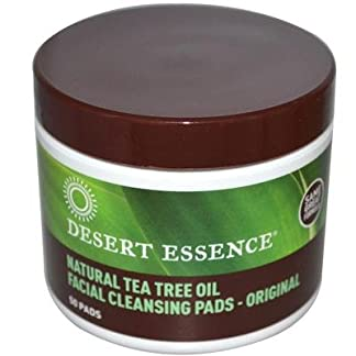 Organic Tea Tree Cleanser Pads by Desert Essence, 50 ct