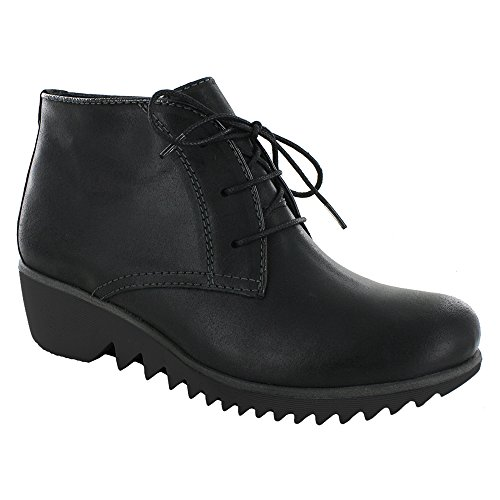 03818 Chaussures 50010 lacets Leather Confort Black Wolky Oiled à nbsp;Vieux Winter fwIPWq5