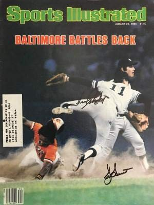 Autographed Bucky Dent Ball - Fred Stanley August 25 1980 Sports Illustrated Magazine - Autographed MLB Magazines