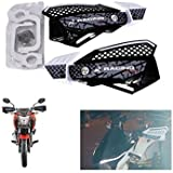 Benjoy Bike Hand Bar Handguard Protector White Color For Bajaj Pulsar 200 NS DTS-i