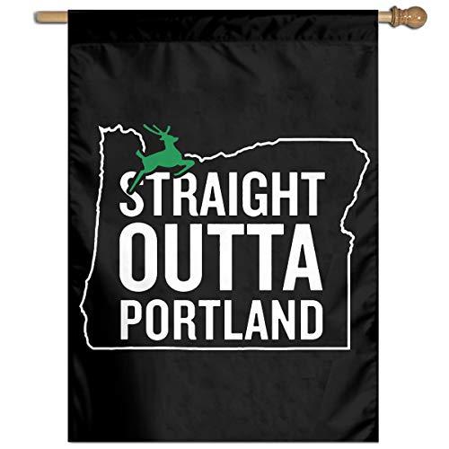 TYZBAOOSDUP Straight Outta Portland House Flag Decorative Garden Flag Yard Banner Garden Flags 27x37
