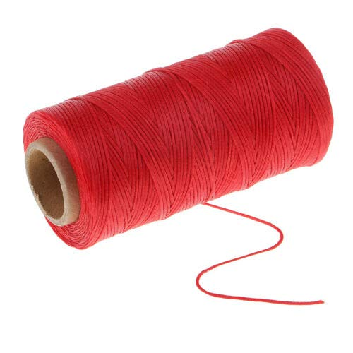 (FidgetGear 1 Spool Flat Waxed Thread for Clothes Shoes Bags Sewing - 1mm 200m Polyester S08)