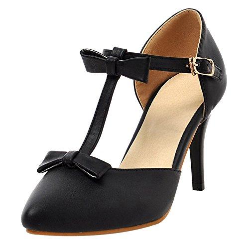 Coolcept Zapatos de Tacon de Aguja Para Mujer Black