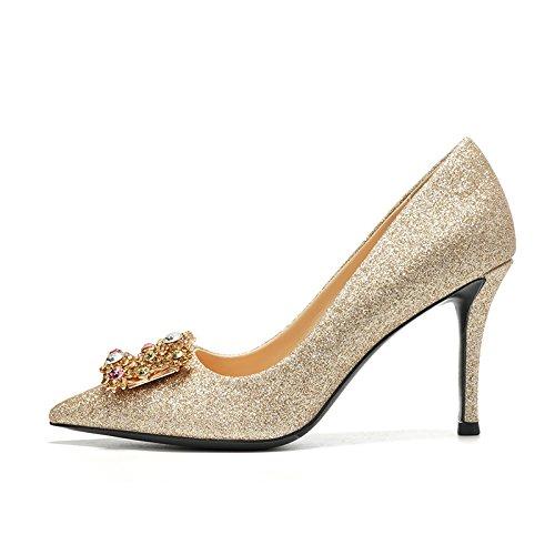 alto la tacón crystal de Zapatos zapatos Tacones de mujer Gold zapatos con femenina Los boda oro The de de HUAIHAIZ 8CM noche zapatos novia vestimenta 4xY0Oqnq
