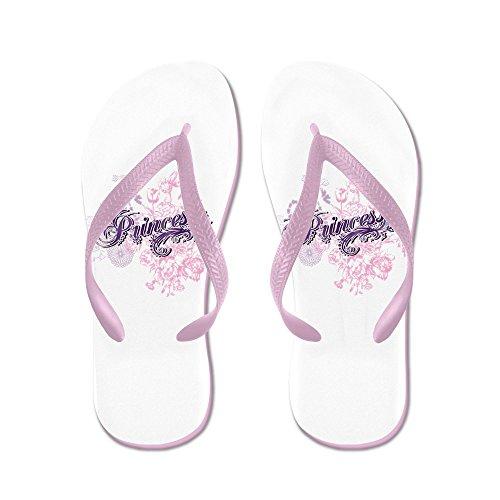 Verkligt Teague Mens Lila Prinsessa Blom Gummi Flip Flops Sandaler Rosa