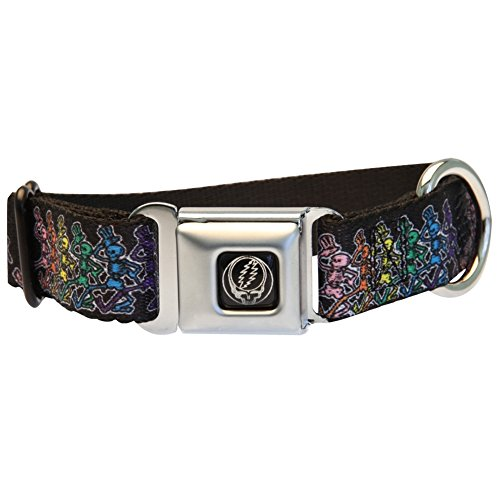 Grateful Dead - Dancing Skeleton Dog Collar - Large Black