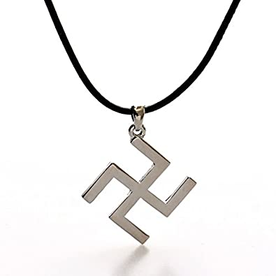 Peace Symbol Swastika Necklace With Leather Rope Amazon