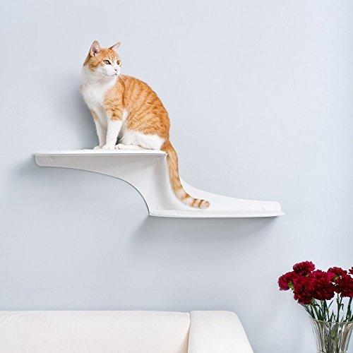 Refined Feline Cat Clouds Cat Shelf Left White