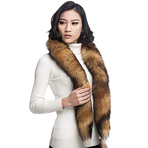 (URSFUR Red Fox Fur Boa Scarf)