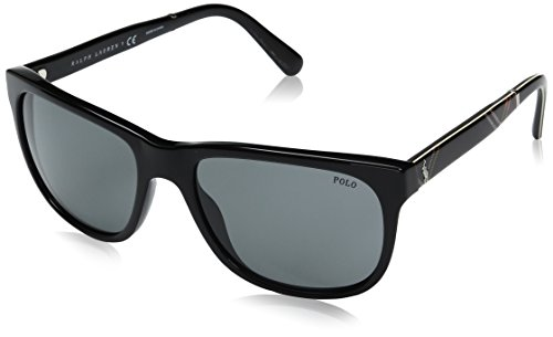 Polo Ralph Lauren 0PH4116- Shiny Black Frame/Light Grey Lens, 58 (Frame Light Grey Lenses)