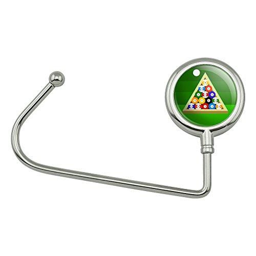 Billiard Balls and Triangle Pool Table Purse Bag Hanger Holder Hook (Billiards Resin Bag)