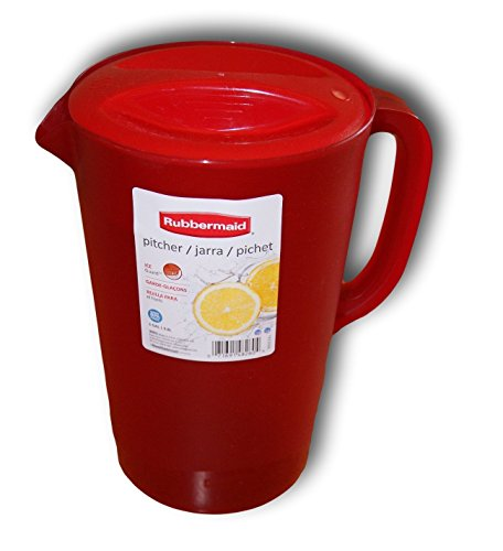 Rubbermaid Gallon Pitcher - Red (Pitcher Plastic 1 Gallon With Lid)