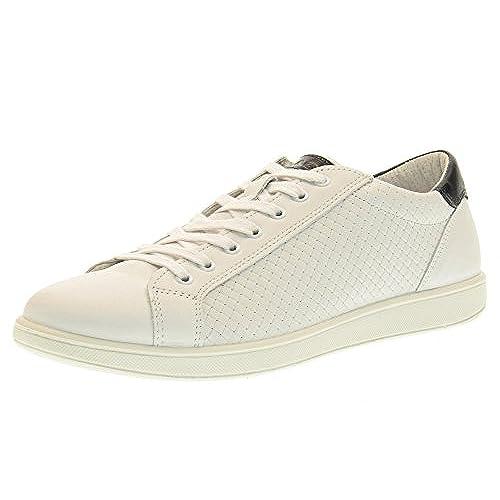 sneakers uomo pelle intreccio stampato bianco IGI&CO 767610 FW481