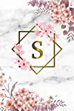 S: Cute Initial Monogram Letter S College Ruled