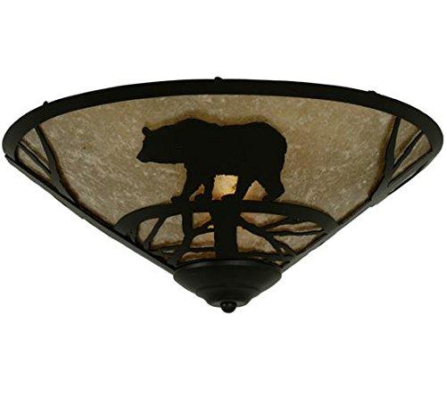 - Meyda Tiffany 112458 Bear on The Loose Flush Mount Light Fixture, 17